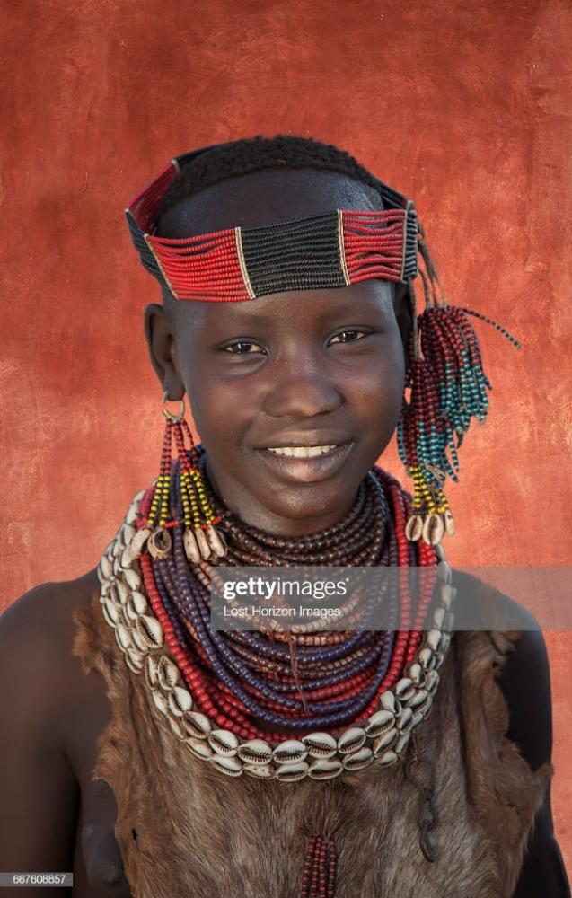 Nubile Damsel Of The Karo Tribe Omo..