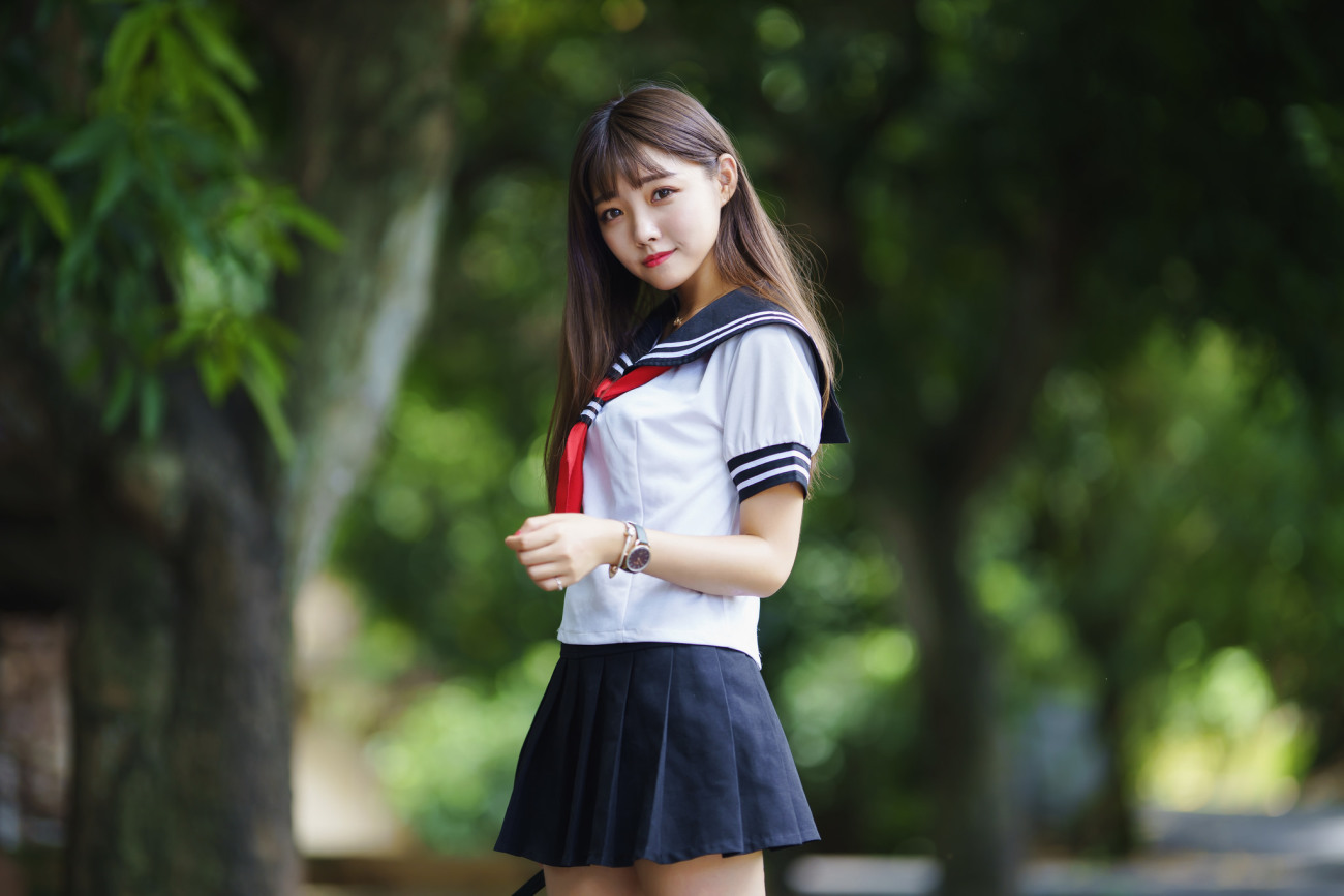 #women, #model, #Asian, #schoolgirl,..