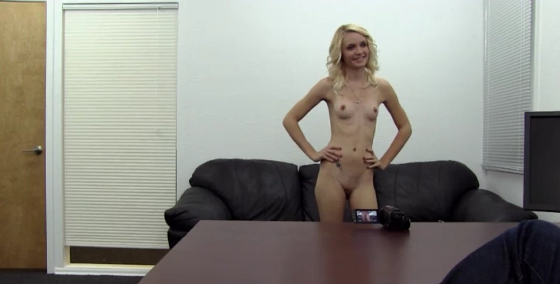 Very first ass-fuck backroom audition..