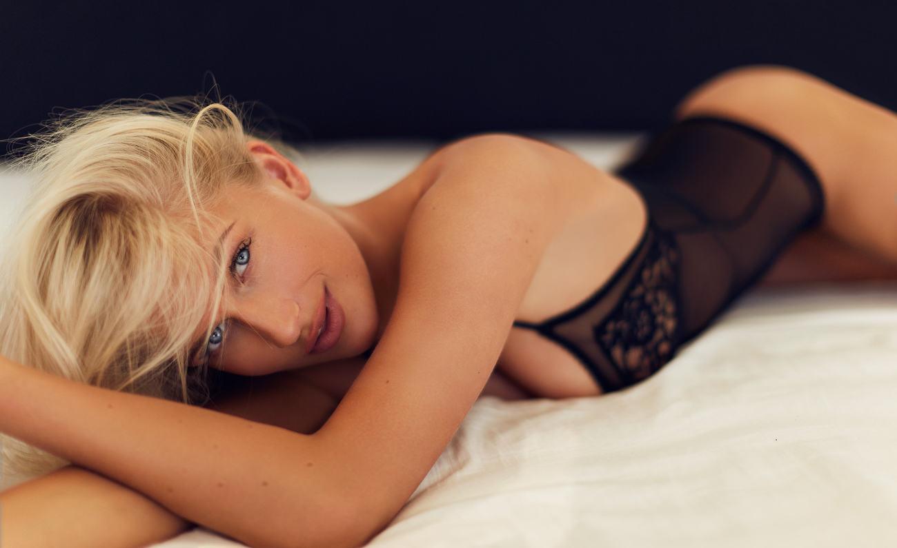 #women, #blonde, #ass, #in bed, #blue..