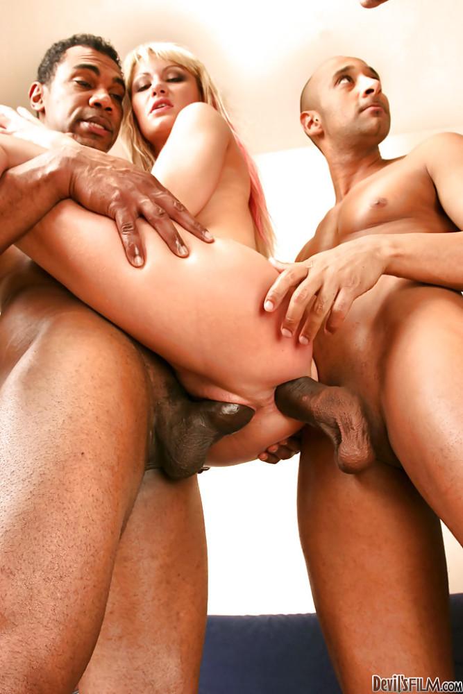 Bi-racial group sex with epic..