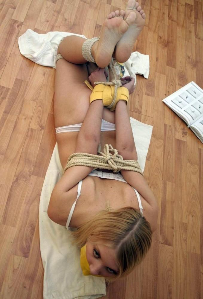 young woman restrain bondage nn SEVEN..