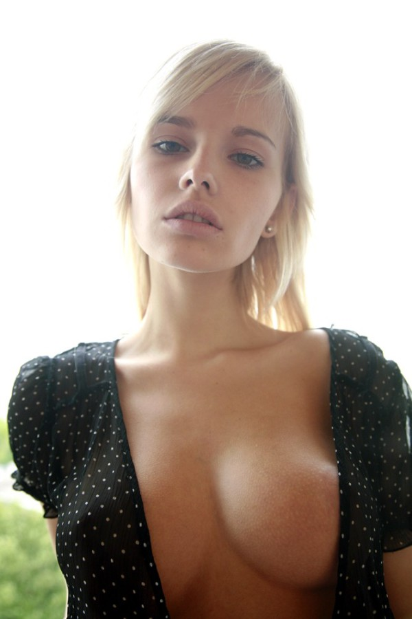Ginormous titted platinum-blonde sweetie